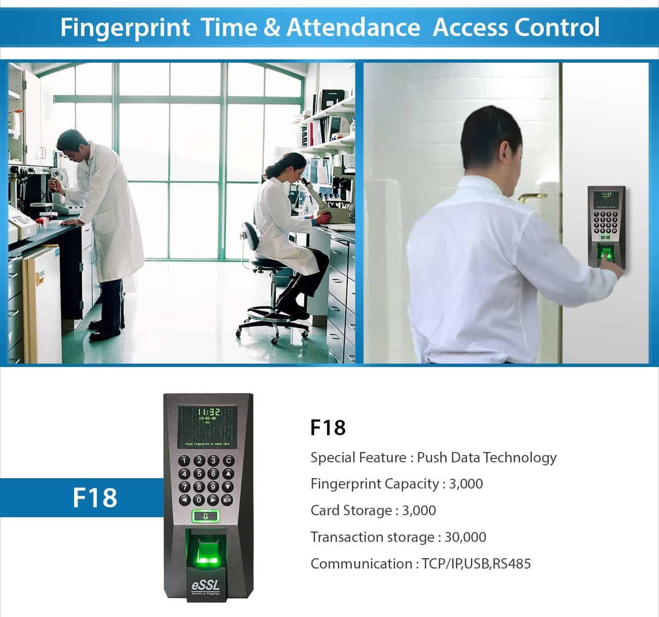 Fingerprint Time Attendance Access Control eSSL F18.jpg