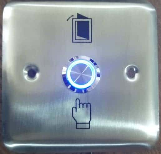Push button with light